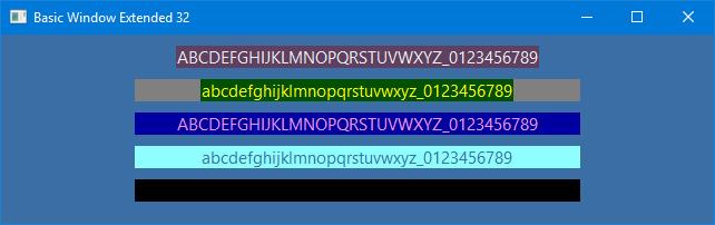 NASM Basic Window Extended 32 bit